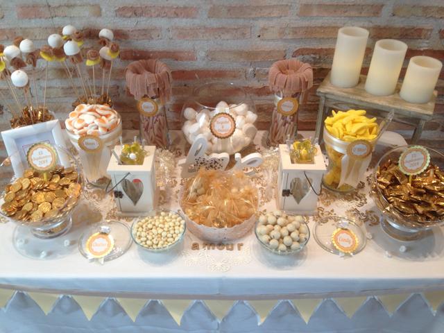 Mesa dulce para bodas un rinc n lleno de sue os for Ideas para mesas de chuches